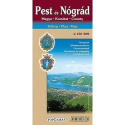 Pest megye térkép és Nógrád megye térkép Nyír-Karta  2008 1:150 000