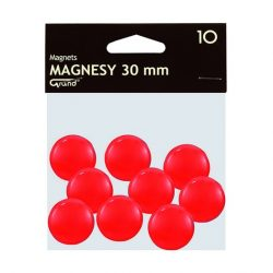 Mágneses jelölő táblamágnes 30 mm -es - piros