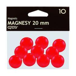 Mágneses jelölő táblamágnes 20 mm -es, kör alakú gombok - piros