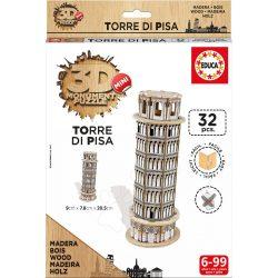 3D Puzzle Pisai ferde torony Educa 32 darabos fa puzzle, Pisa Tower