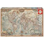Politikai világtérkép, Educa Mini Puzzle 1000 darabos  46 x 30 cm