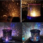 Csillagfény lámpa LED, csillagokat kivetítő lámpa