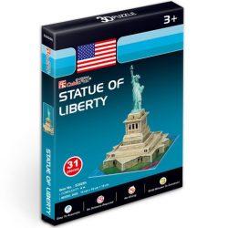 Mini amerikai szabadság szobor 3D puzzle 14 x 16 x 19 cm