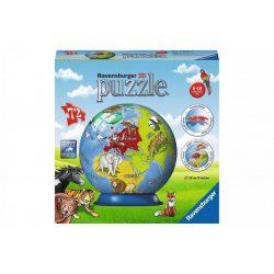 Földgömb állatokkal - 72 db-os 3D gömb puzzle Ravensburger