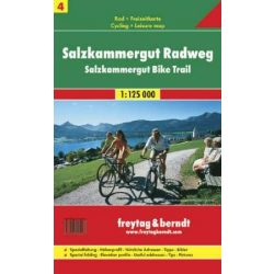 RK 4 Salzkammergut kerékpárút Salzkammergut kerékpáros térkép Freytag & Berndt 1:125 000