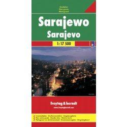 Sarajevo térkép Freytag & Berndt 1:17 500