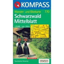 770. Schwarzwald Mittelblatt turista térkép Kompass 1:75 000