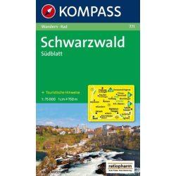 771. Schwarzwald Südblatt turista térkép Kompass 1:75 000