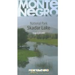 Skadar tó, Skadra tó térkép Huber 1:55 000