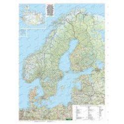 Skandinávia falitérkép Freytag 1:2 000 000 124x86