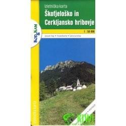 Skofjelosko in Cerkljansko hribovje turista térkép Planinska zveza Kod and Kam 1:50 000