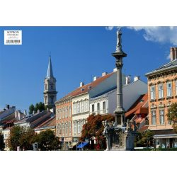 Sopron tányéralátét könyöklő + hátoldalon Sopron várostérképe