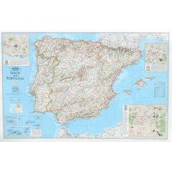Spanyolország falitérkép National Geographic 1:900 000 84x56