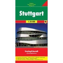 Stuttgart térkép Freytag 1:20 000