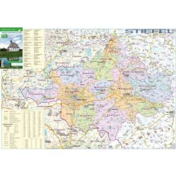 Szabolcs-Szatmár-Bereg megye térkép Stiefel 1:160 000