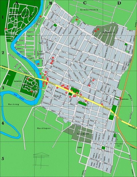szarvas térkép Szarvas térkép, Békésszentandrás térkép   Térkép Center Kft. Budai  szarvas térkép