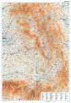 Erdély, Székelyföld falitérkép papírposzter Gizi Map