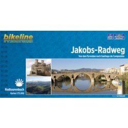 Jakobs-Radweg kerékpáros atlasz Esterbauer 1:75 000  2017  Szent Jakab kerékpáros térkép