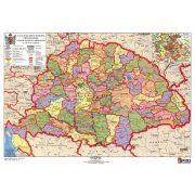 A Magyar Szent Korona Országai iskolai lap Stiefel A/4 Szent Korona Országai térkép