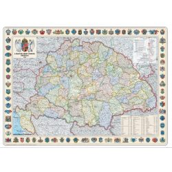 Szent korona országai falitérkép 1914 Nyír-Karta  126x86