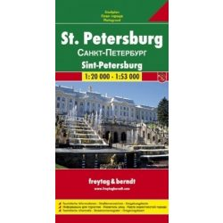 Szentpétervár térkép Freytag 1:20 000, 1:53 000