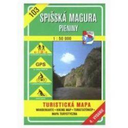 103. Szepesi Magura, Pieninek turista térkép VKÚ 1:50 000