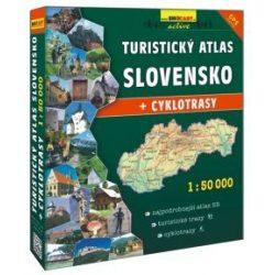 Szlovákia  atlasz, Szlovákia turista és kerékpáros atlasz 1:50 000 Shocart 2018 Szlovákia turistatérképek