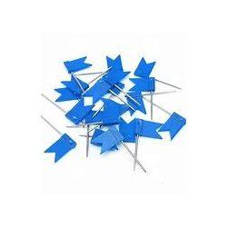 Zászló térképtű, matricázható, 100 db-os táblatű kék színű beszúrható zászló