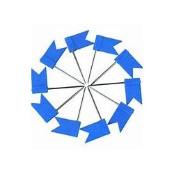 Zászló térképtű, matricázható, 25 db-os táblatű kék színű beszúrható zászló