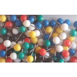 Térképtű gömbfejű vegyes színű, 1,6 cm-es tű 6 mm-es gömbfejjel
