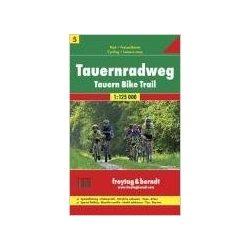 RK 5 Tauern kerékpárút Tauernradveg kerékpáros térkép Freytag 1:125 000