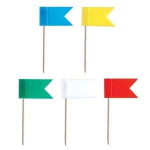 Zászlós térképtű - 25 db/doboz - matricázható vegyes színű 18 x 10 mm