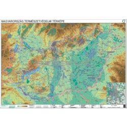 Magyarország természetvédelmi térképe falitérkép fémléces 100x70 cm