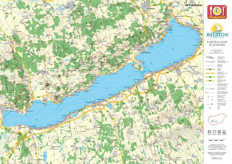 tihany térkép Tihany tányéralátét könyöklő + hátoldalon Balaton térkép   Térkép