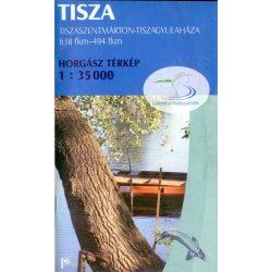 Tisza horgász térkép Paulus 2009 1:35 000 Tiszaszentmárton - Tiszagyulaháza