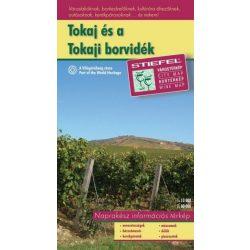 Tokaj térkép és a Tokaji borvidék térképe 2008  70 x 55 cm