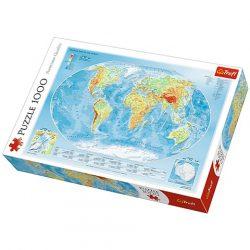 Föld térkép puzzle Trefl 1000 db 68 x 48 cm