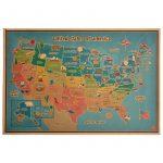 USA államai művészeti falitérkép 42x30 cm