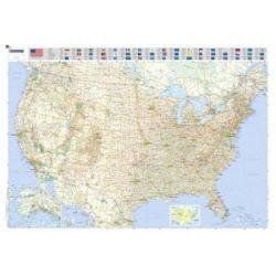 Úthálózatos USA falitérkép Michelin 1:3 450 000 144x100