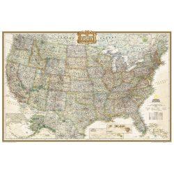 Antik színezésű USA falitérkép National Geographic  1:4 560 000  110x76