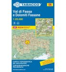 06. Val di Fassa - Marmolada - Catinaccio, Rosengarten turista térkép Tabacco 1: 25 000