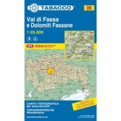 06. Val di Fassa - Marmolada - Catinaccio, Rosengarten Dolomitok turista térkép Tabacco 1: 25 000  Tab 2506