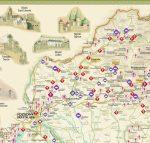Várak a történelmi Magyarországon falitérkép Paulus 1:1 000 000 100x66 cm