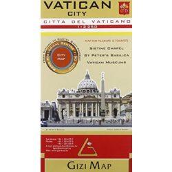Vatikán város térkép Gizi Map  1:2 250