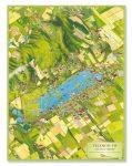 Velencei-tó látványtérkép fóliázott falitérkép, poszter 2015