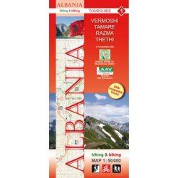 Albánia térkép 1. rész, Albánia kerékpáros térkép   Huber   1:50 000