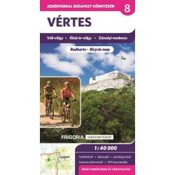 Vértes kerékpáros térkép Frigória  2018  Vértes térkép