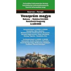 Veszprém megye térkép Szarvas 2007 1:100 000