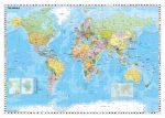 Világ országai falitérkép fémléces Stiefel 140x100 cm