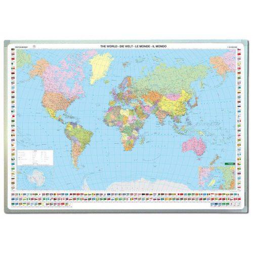 Világ országai fóliázott falitérkép Freytag 1:35 000 000 122x86,5